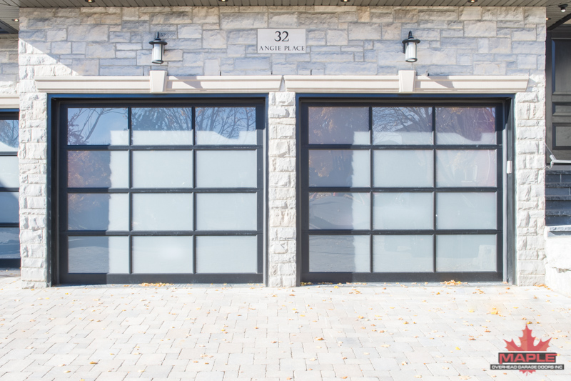 Fullview Garage Doors With Opaque Gl
